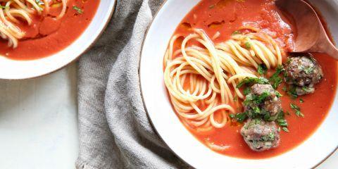 Spaghetti & Meatball Soup Horizontal