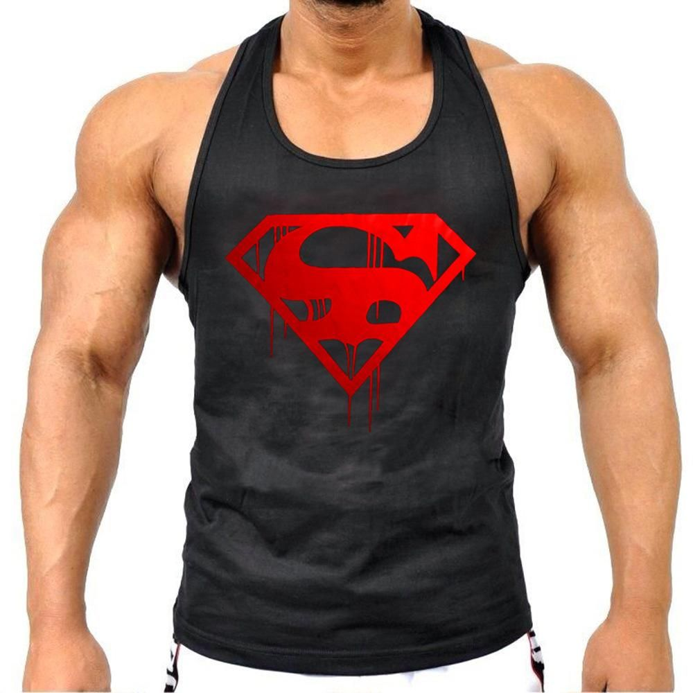 3643a6f208970 Superman Gyms Tank Top mens Summer Cotton Slim Fit in 2019