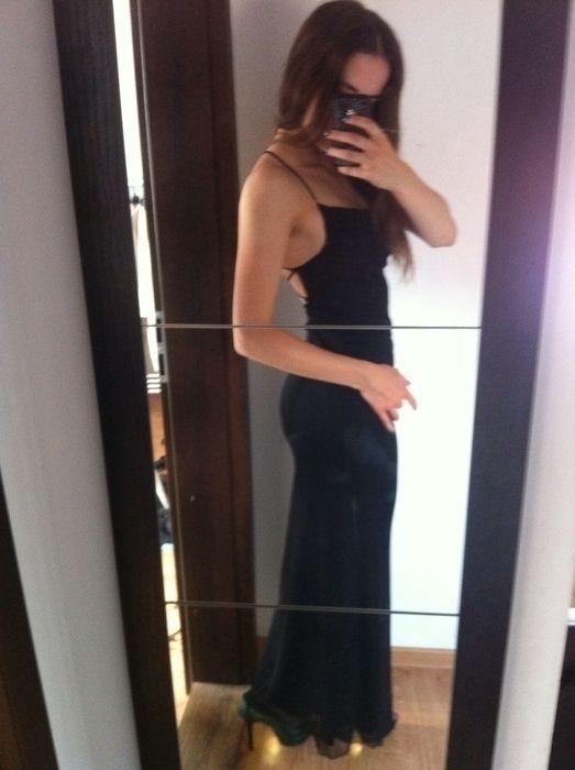 6e9db0f8 Czarna sukienka maxi obcisla topshop - vinted.pl | sukienka czarna ...