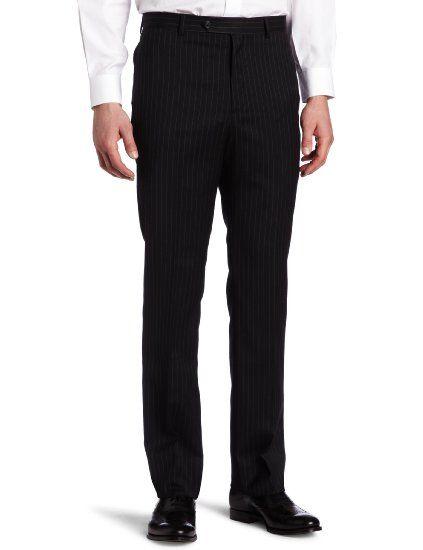 Amazon.com: Tommy Hilfiger Men's Flat Front Trim Fit 100% Wool Suit Separate Pant: Clothing