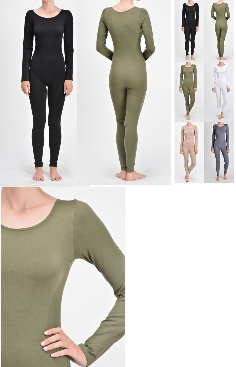 884cc2f018 Jumpsuits and Rompers 3009  Women Nylon Spandex Long Sleeve Round Neck  Catsuit Jumpsuit Bodysuit Dance -  BUY IT NOW ONLY   16.99 on  eBay   jumpsuits ...