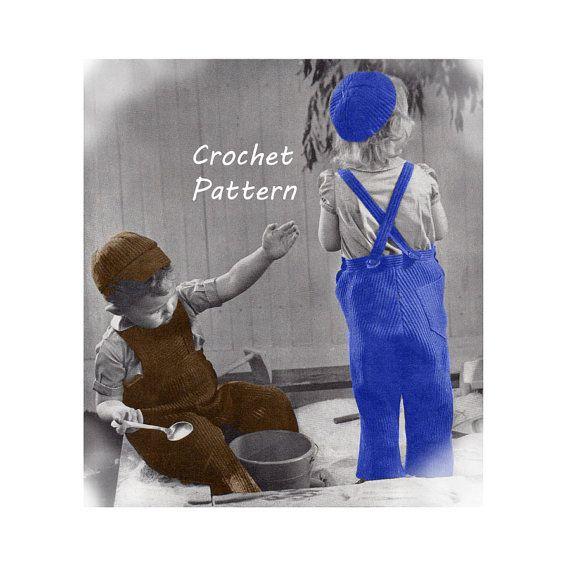 Toddler Boy or Girl Overalls Calot Visor Cap by patternmemories ...