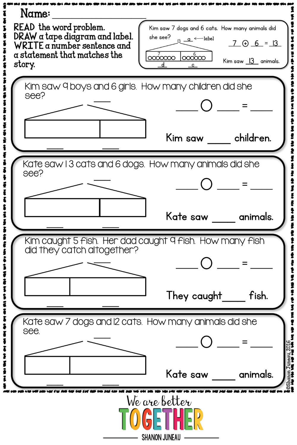 Math Worksheets   Word problems [ 1500 x 1000 Pixel ]