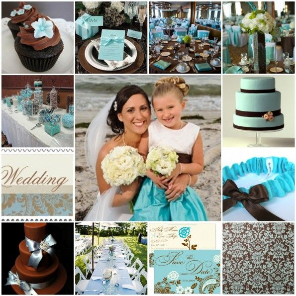 intimateblue and chocolate brown wedding |Posted in: Colors Galore ...
