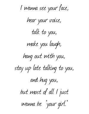 Wanna Be Your Girl Love Quotes Crush Quotes Girl Quotes