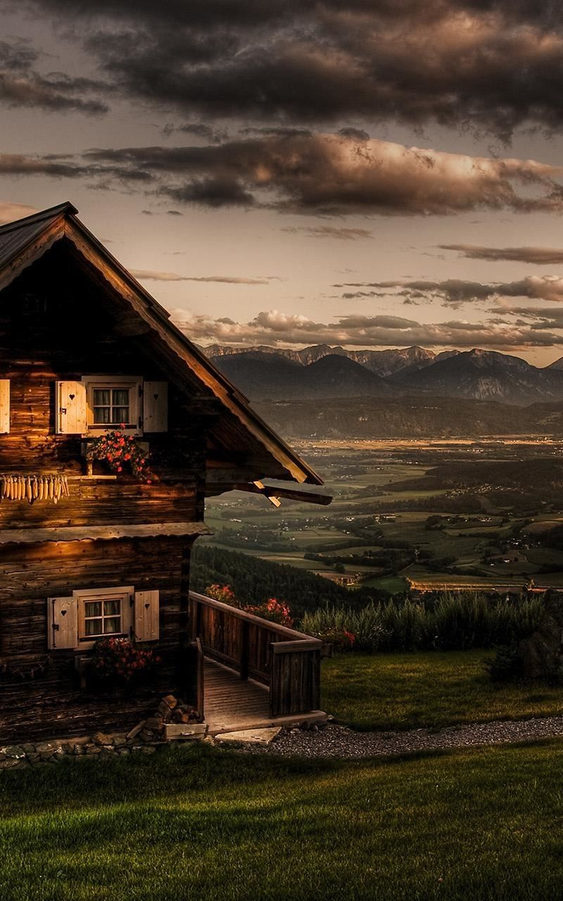 Beautiful Wood House Iphone Wallpapers Lock Screen Background
