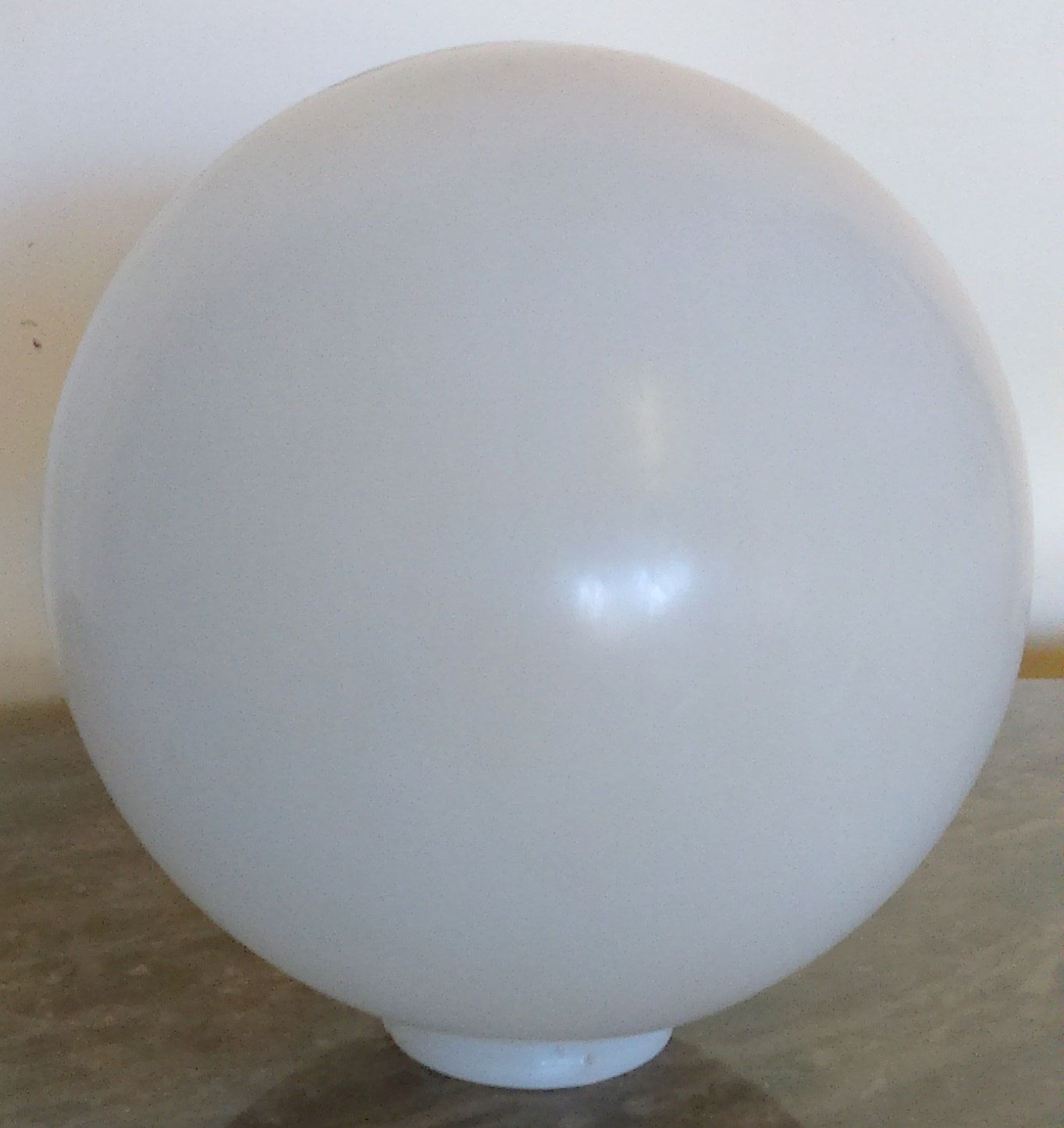 Large Vintage White Plastic Ball Indoor Outdoor Shade Light Fixture Round 12 Quot Diameter 4 Quot Fitter Globe Outdoor Shade Light Shades White Vintage
