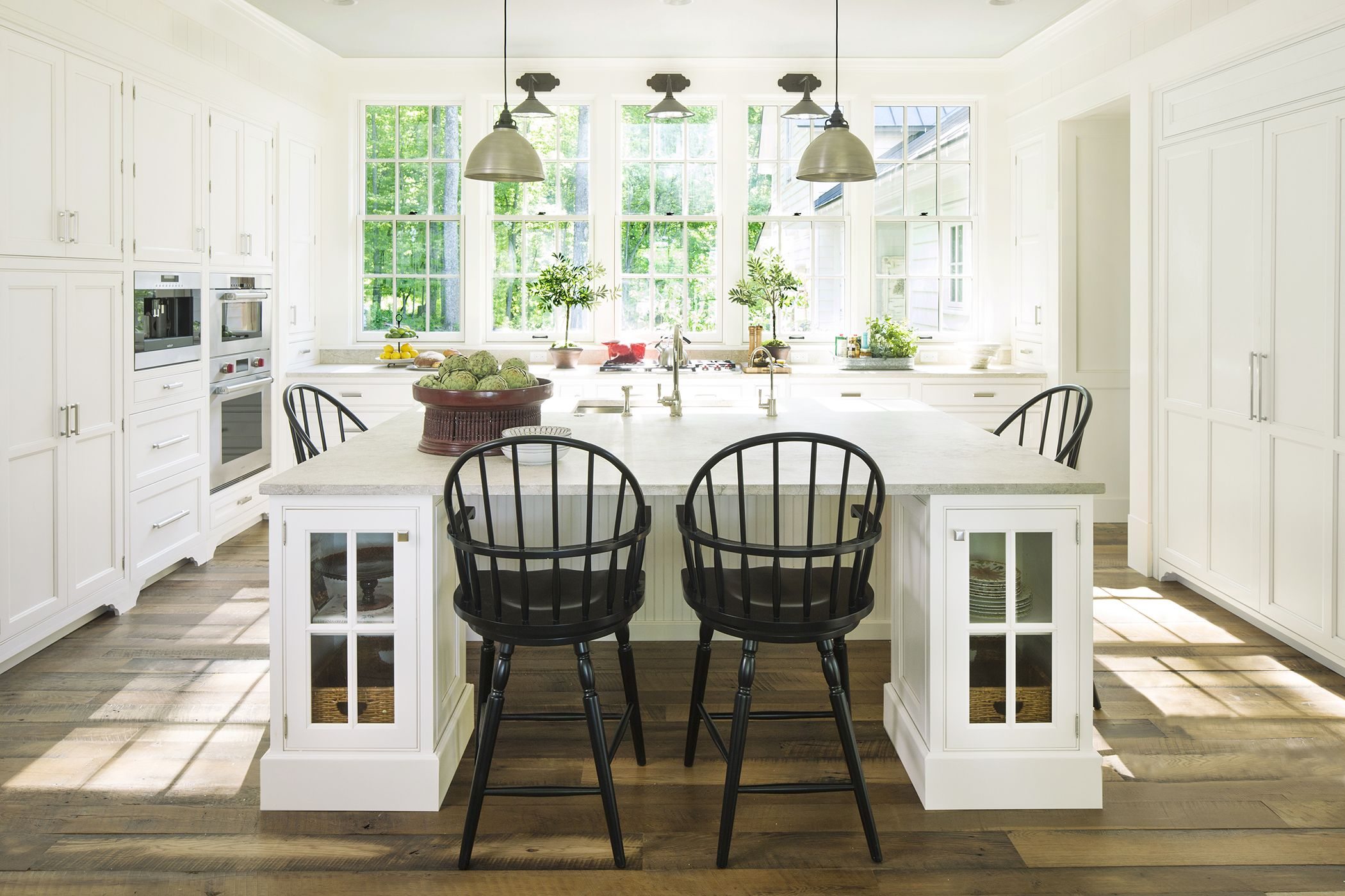 White Wellborn cabinetry in the kitchen of the 2015 Southern Living ...