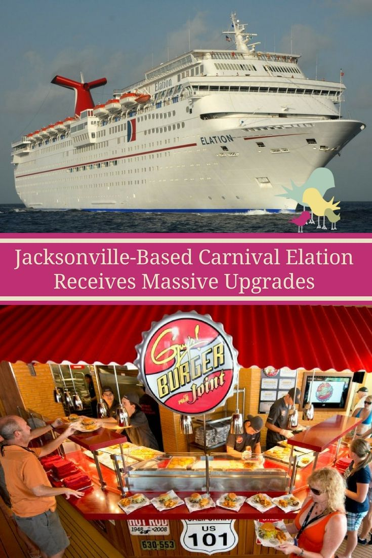 The Carnival Elation Based In Jacksonville Florida Upgraded To - Cruises out of jacksonville