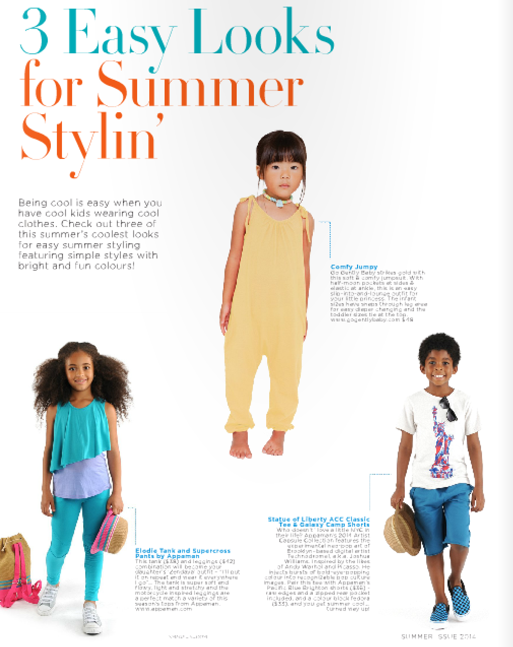 Go Gently Baby yellow jumpsuit in B3 Caribbean Magazine
