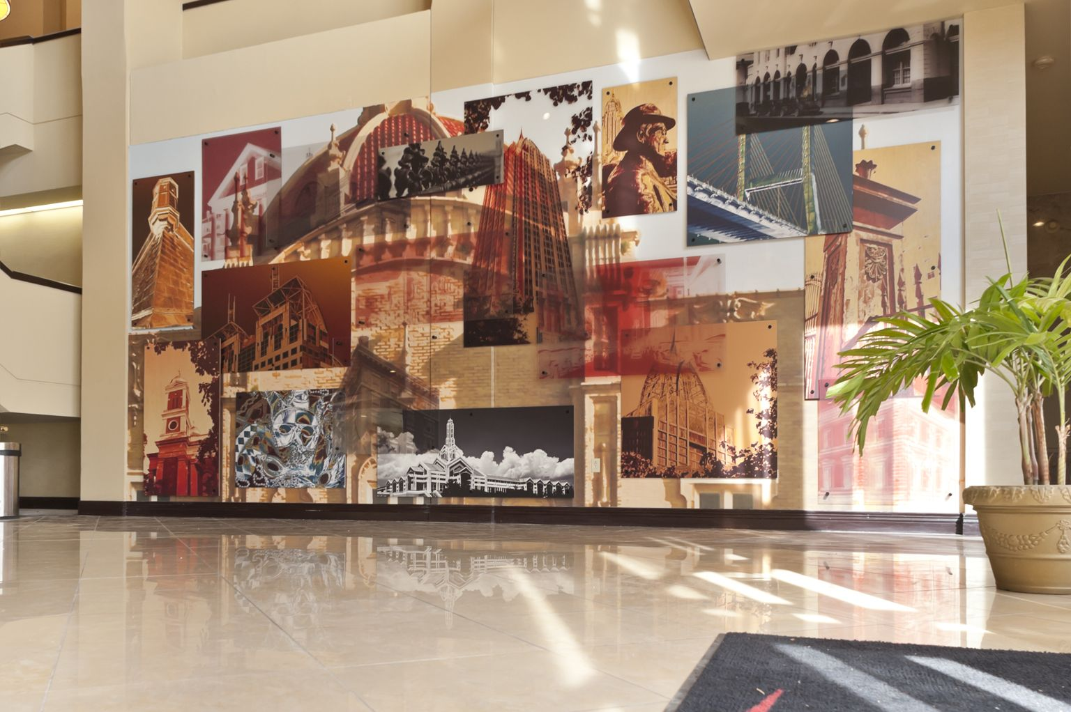 marriott hotel - mobile, al - acrylic, metal, vinyl and gatorboard