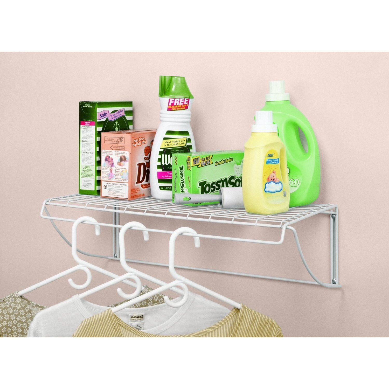 Beautiful ClosetMaid Laundry Shelf (24 Inch), White