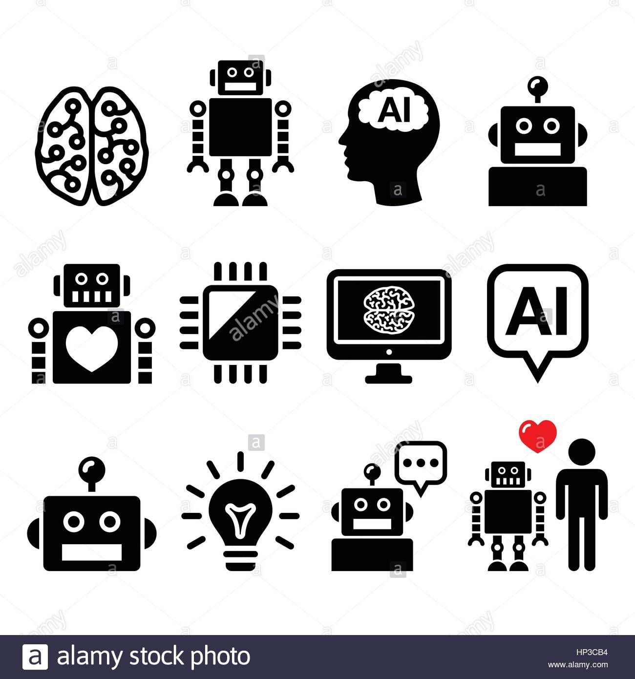 Pin By Yan Zhan On Ppt Artificial Intelligence Robot Icon