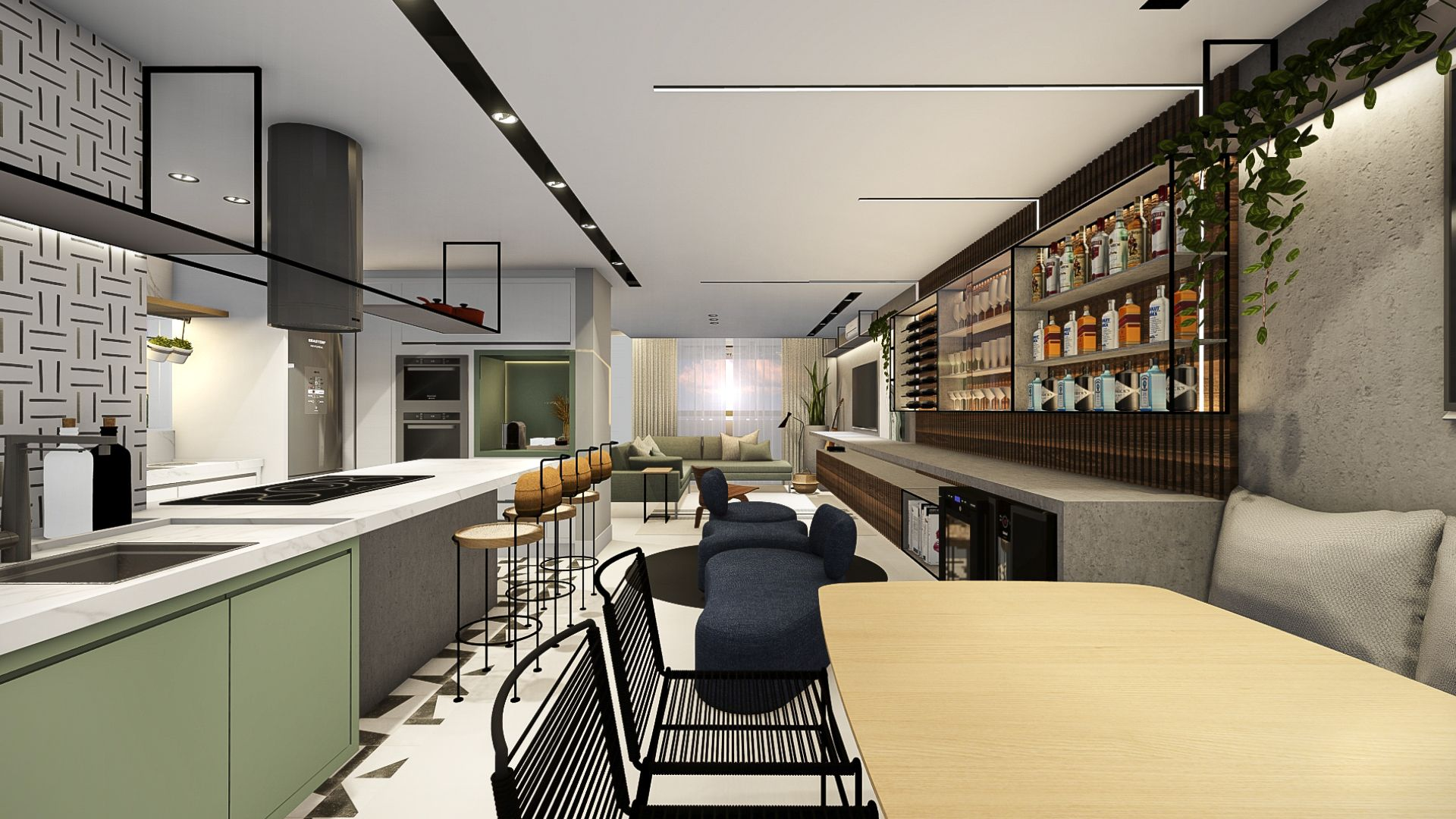 Photo of Casa Onze – Sala Integrada / Adega / Cozinha / Gourmet