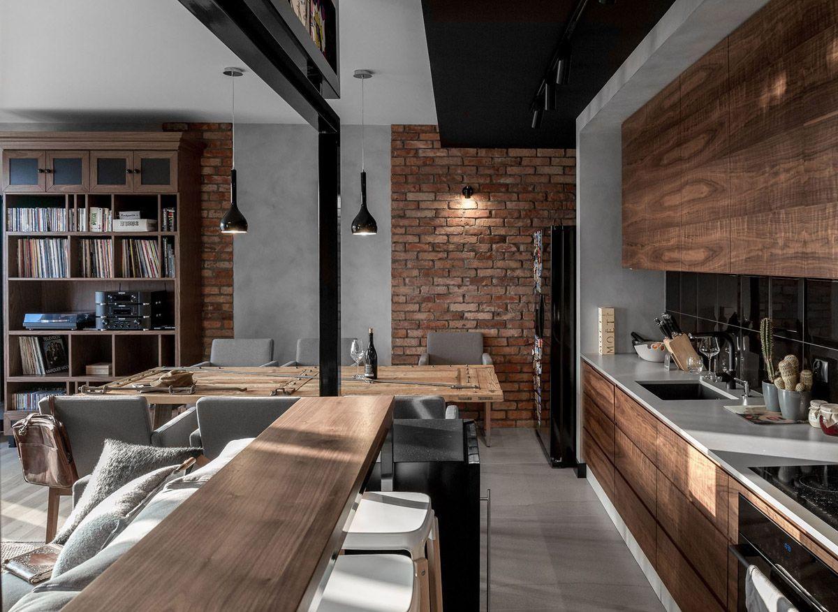 Interior Design Kitchen Loft Interiors Kitchen Interior
