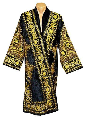 6985d616528 Amazon.com: beautiful Uzbek traditional Bukhara outwear costume kaftan  caftan robe jacket coat unisex silk gold embroidered b804: Handmade