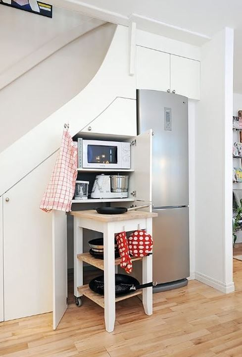30 outstanding ideas to use the under stairs space space saving kitchen kitchen under stairs on kitchen under stairs id=46473