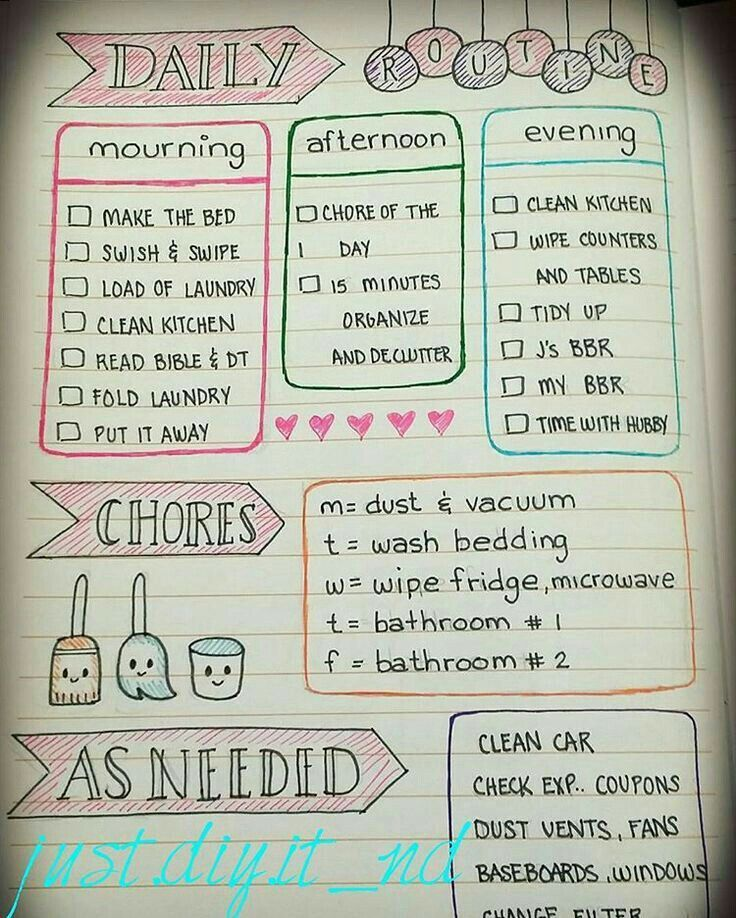 Pin by Série on Ideias Pinterest - housework schedule