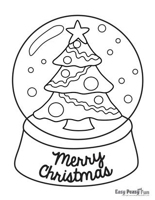 Christmas Colouring Sheet Easy in 2020 | Christmas tree ...