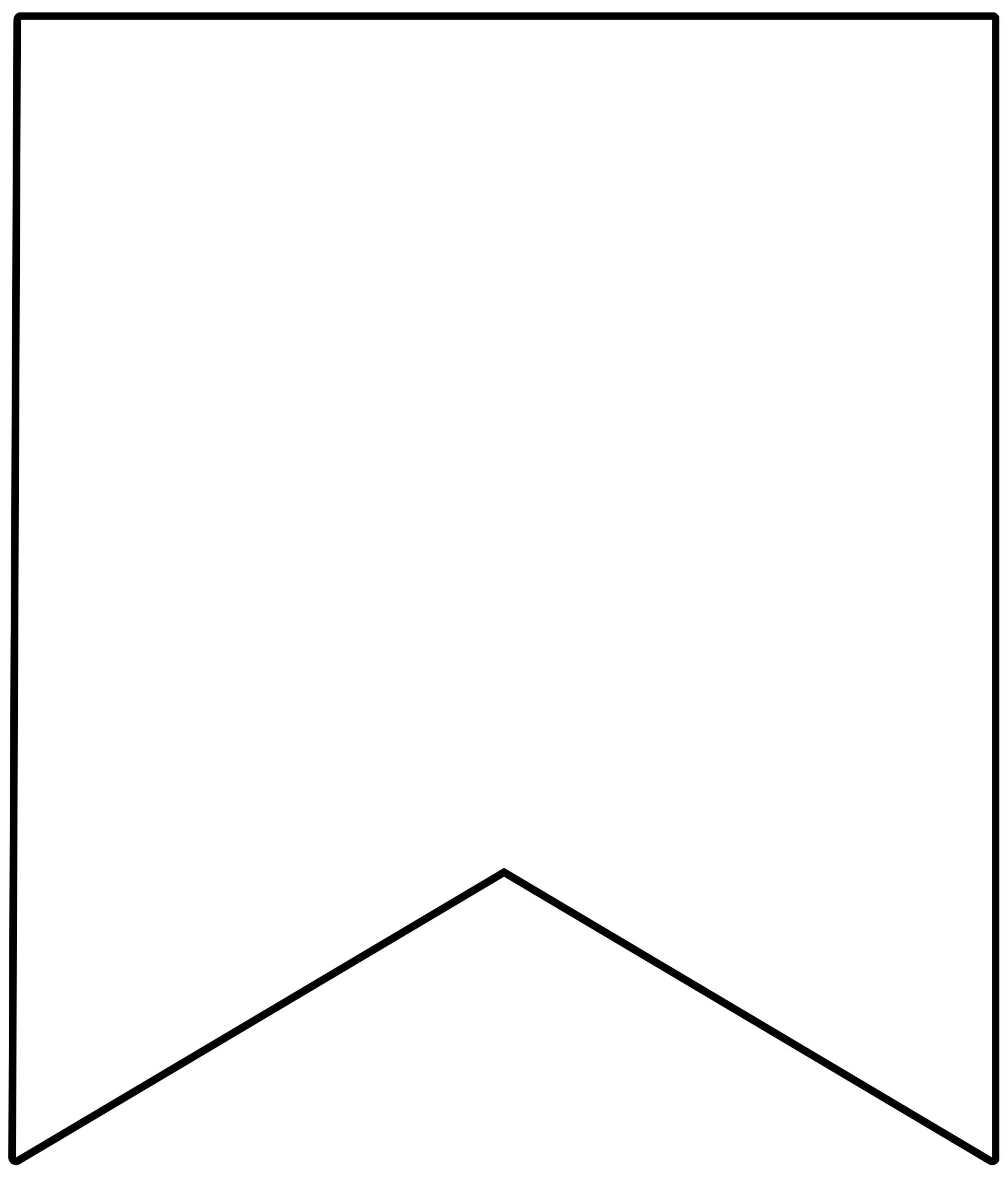 template printable pennant banner