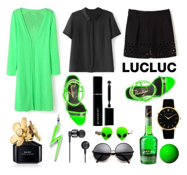 """Alien attack - Lucluc 10"" by justmyworld ❤ liked on Polyvore featuring Privileged, Givenchy, Marc Jacobs, Larsson & Jennings, Thomas Sabo, Aroma, Nixon and lucluc"