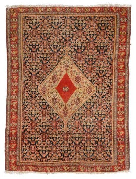 From Iran Ca Late 19th Century 135 X 180 Prayer Rugtexturetribal