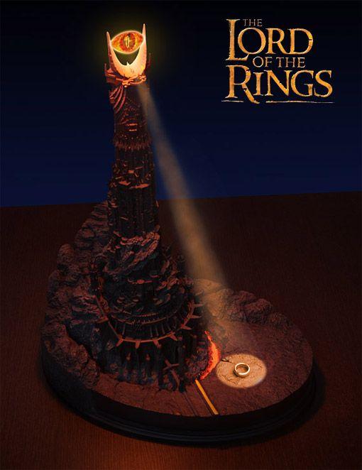 5e57f91cd Luminária Olho de Sauron – Réplica da Torre Negra de Sauron em Senhor dos  Anéis
