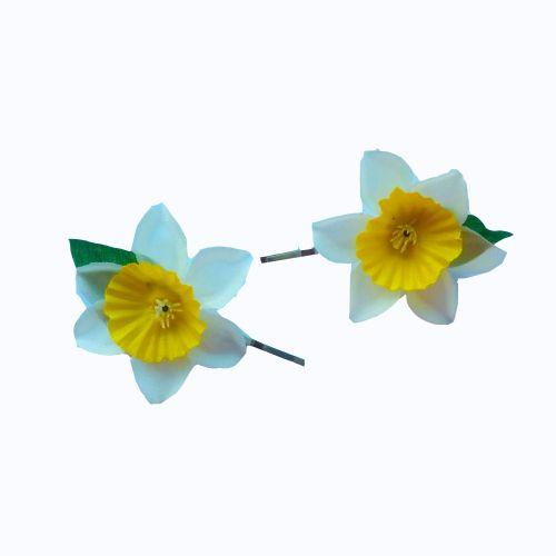 Spring Daffodil Bobby Pins