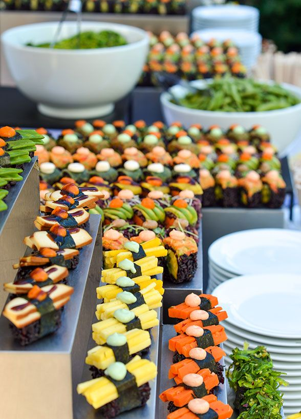 Take A Look At Our Top 10 Most Fabulous Ways To Do Food Stations At Your Wedding That Your Guests Will Go Absolutely Wedding Food Stations Food Vegan Catering Healthy weight forum » calorie counter » calories in sushi. wedding food stations food vegan catering