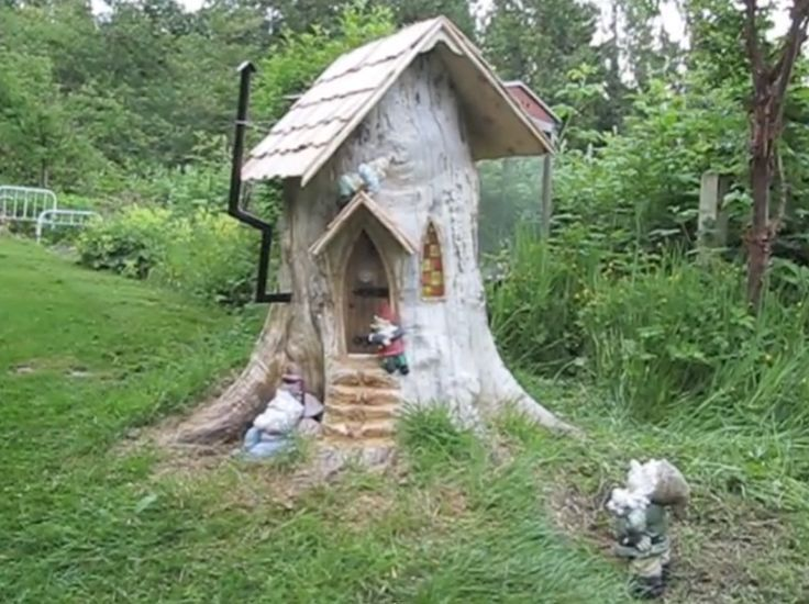 tree stump ideas on Pinterest   Tree Stumps, Fairy Doors and Old Trees