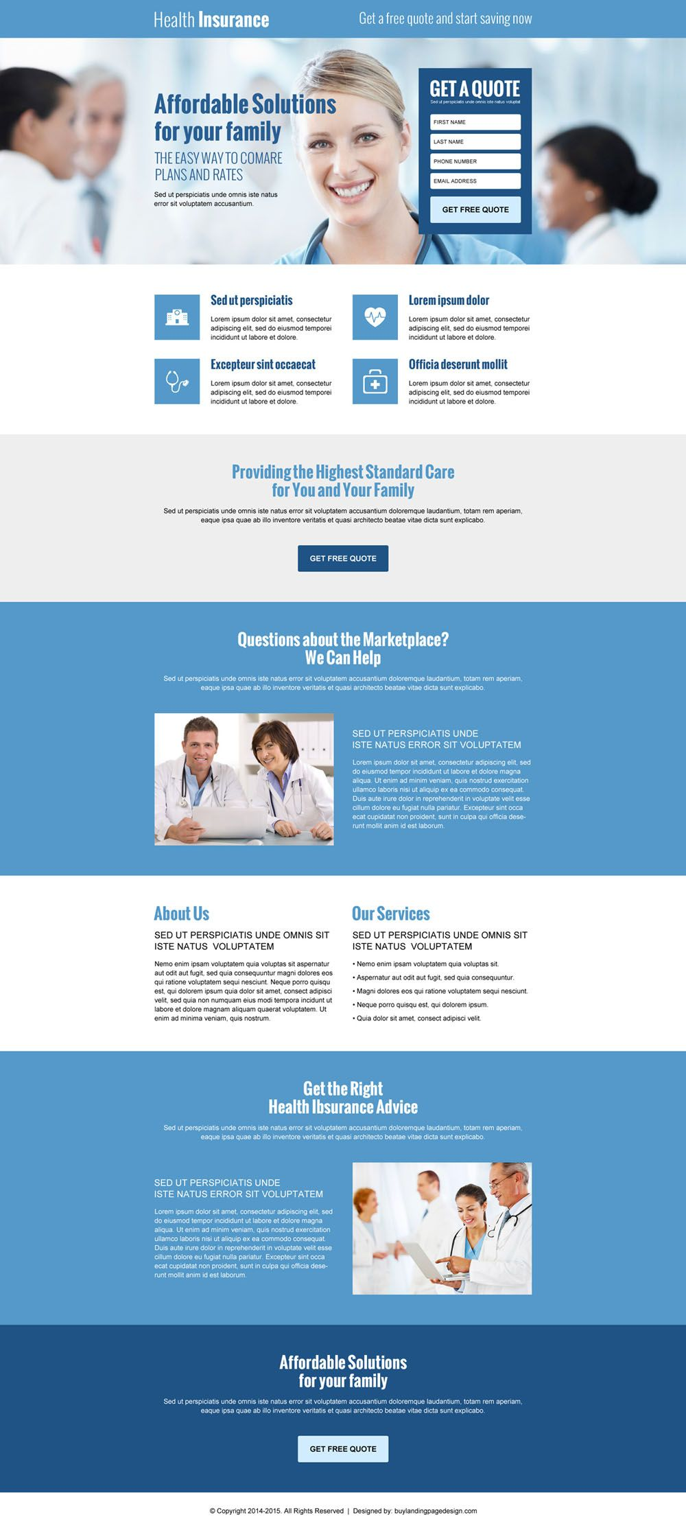 Lead Capture Converting Landing Page Design For Health Insurance