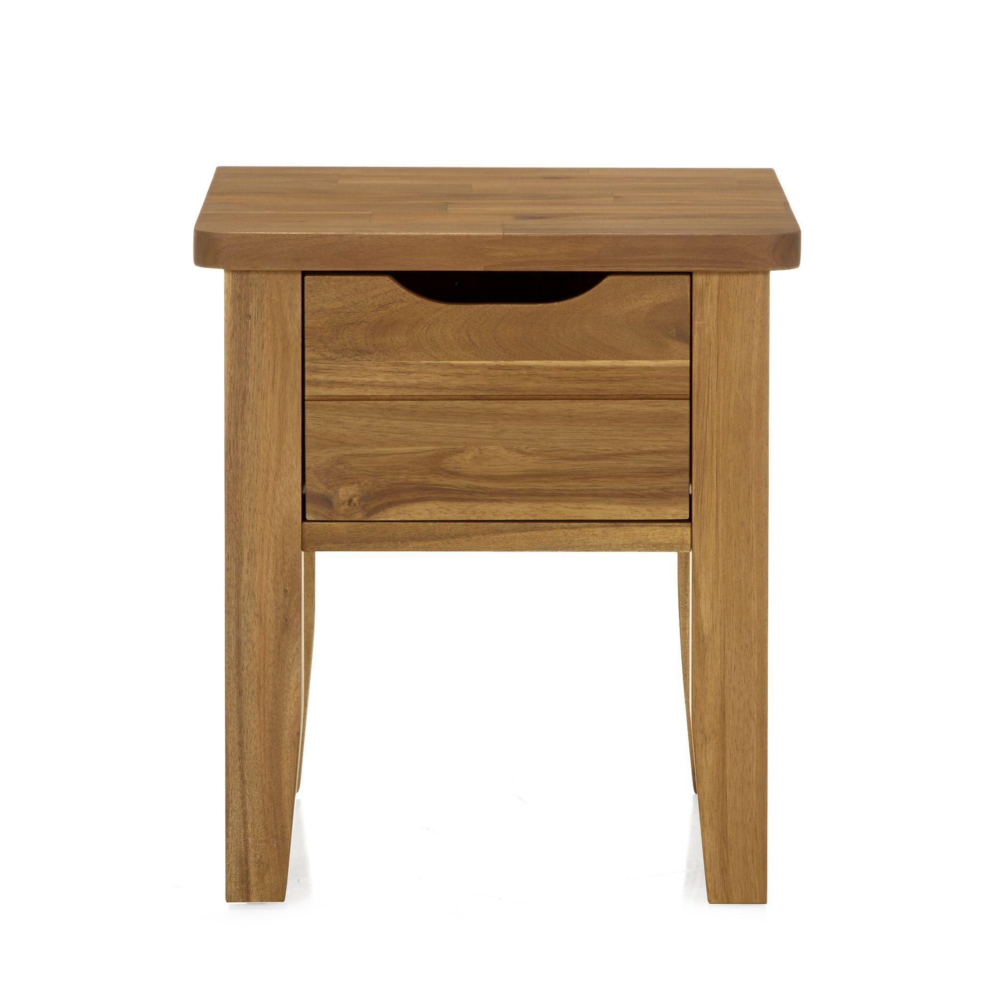 chevet avec 1 tiroir naturelle huile songma tables de chevet tous les meubles - Table De Nuit Alinea