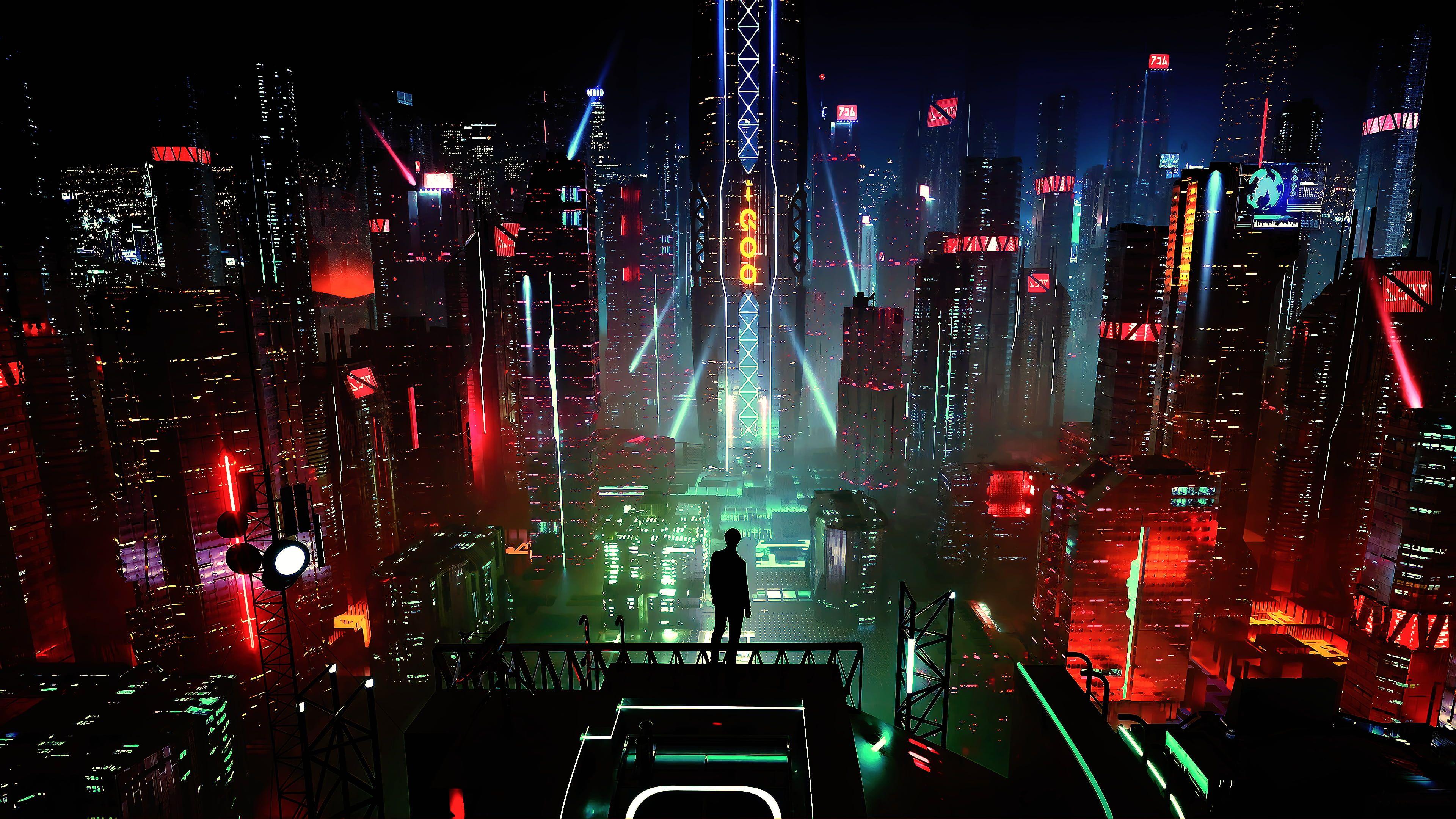 Cyber Science Fiction Digital Art Concept Art Cyberpunk Artwork Futuristic Fantasy Art Fan Art 3d Cityscape Futuristic In 2020 Concept Art Wallpaper Hd Wallpaper