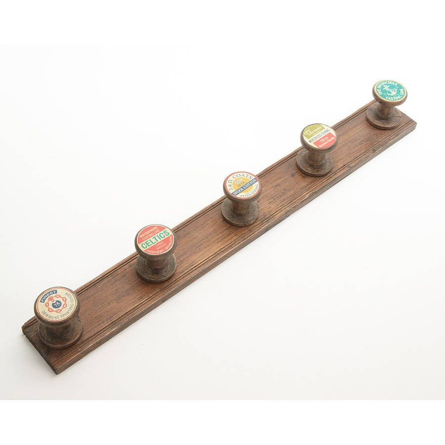 Large wooden spools for crafts - Large Wooden Spool Coat Rack By Lindsay Interiors Notonthehighstreet Com