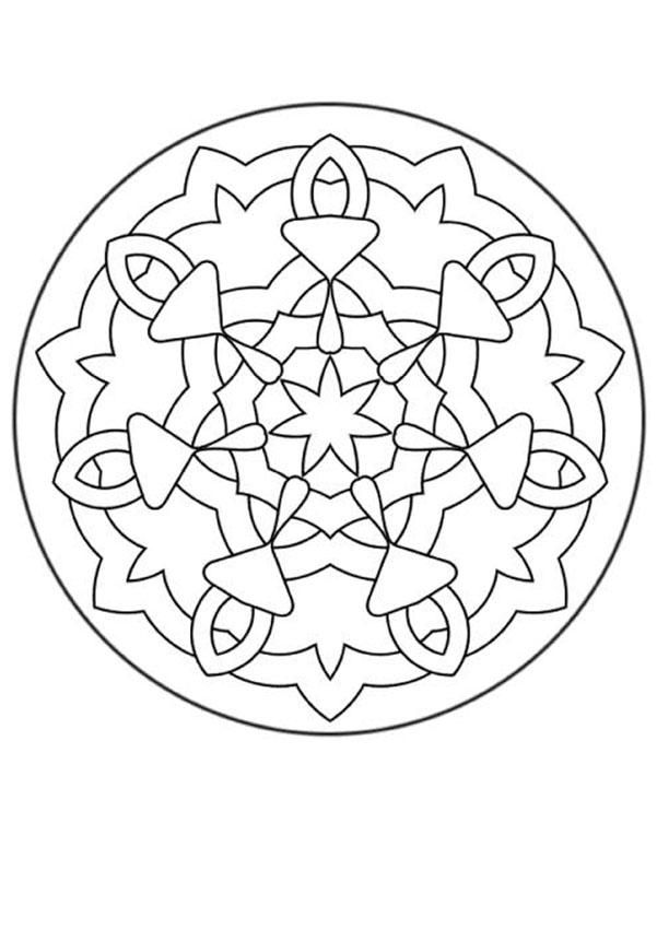 Simple Coloring Page For Kids Here A Simple Mandala For Beginner More Content On Hellokids Com Mandala Coloring Mandala Coloring Pages Coloring Books