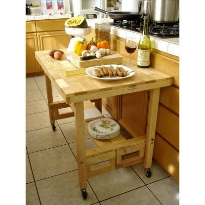 All Wood Folding Serving Table Kitchen island in 2018 Pinterest