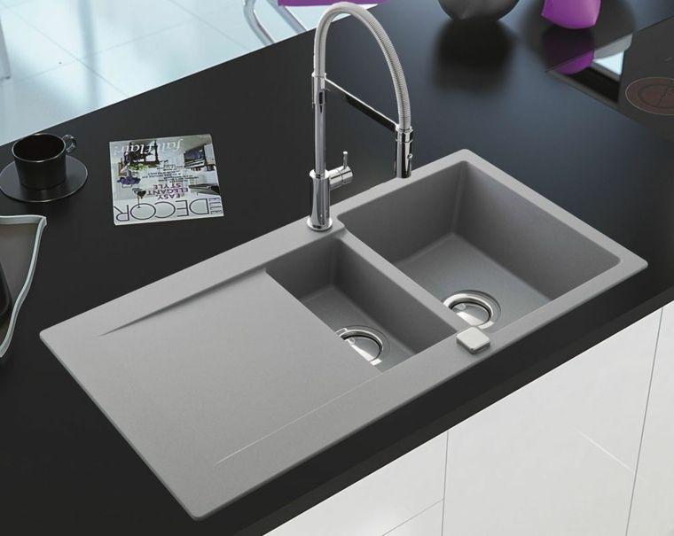 Évier granit de design moderne par Schock | Evye | Granite kitchen ...