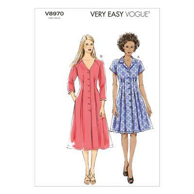 Kleider, Vogue 8970 | 34 - 42 | Nähideen | Pinterest | Kleider ...