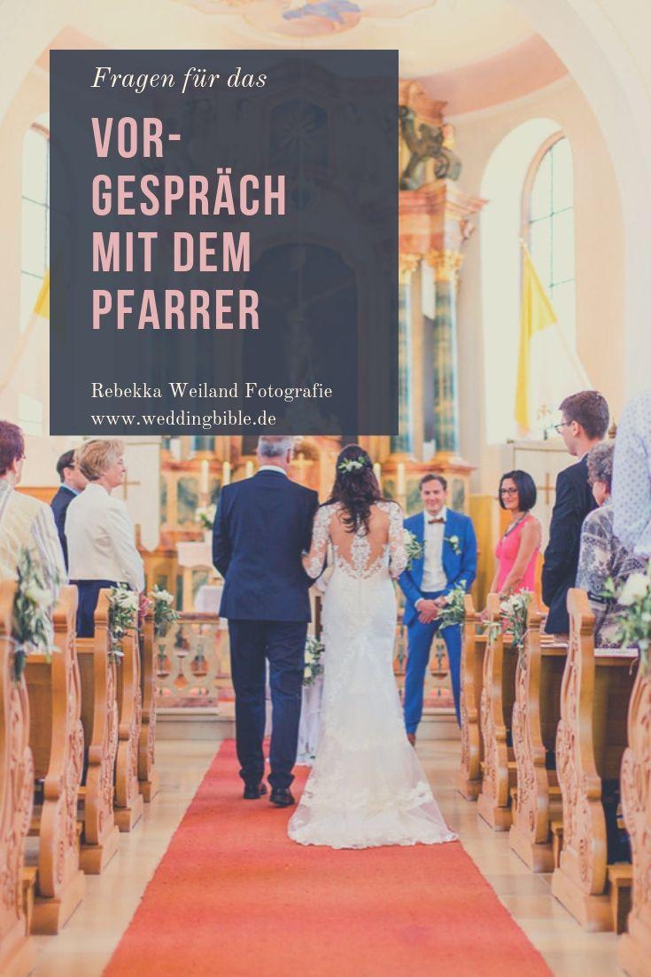 Fragen an den Pfarrer vor der Hochzeit