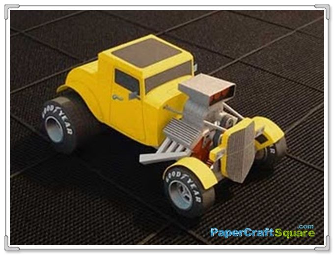 32 Ford Papercraft | cardboard | Paper models, Paper crafts
