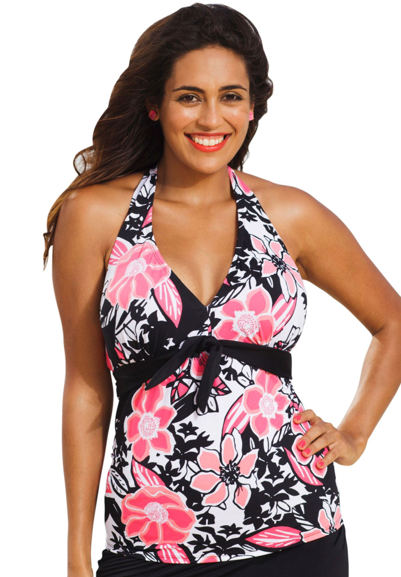 0fa48980b58 Shore Club Front Tie Halter - Women s Plus Size Clothing