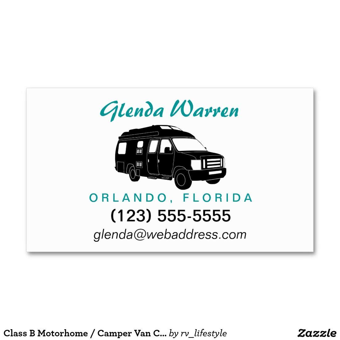 Class b motorhome camper van calling card business cards by rv class b motorhome camper van calling card business cards by rv lifestyle colourmoves