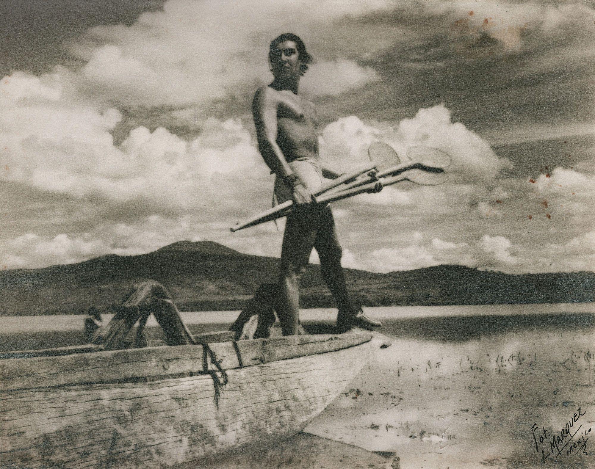 Luis Márquez Romay (1899-1978. Janitzio, 1935. Plata sobre gelatina (impresión de época), 19.5 x 24.5 cm. México D.F., Colección Galería López Quiroga