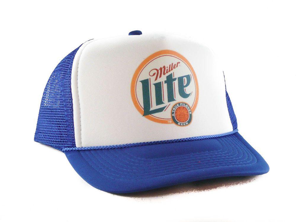 192e9bce16a Miller Lite beer hat Trucker Hat mesh hat snapback hat royal new  trucker   TruckerHat