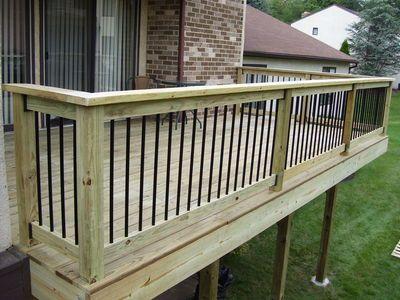 Wood Pressure Treated Lumber Deck W Aluminum Baers By