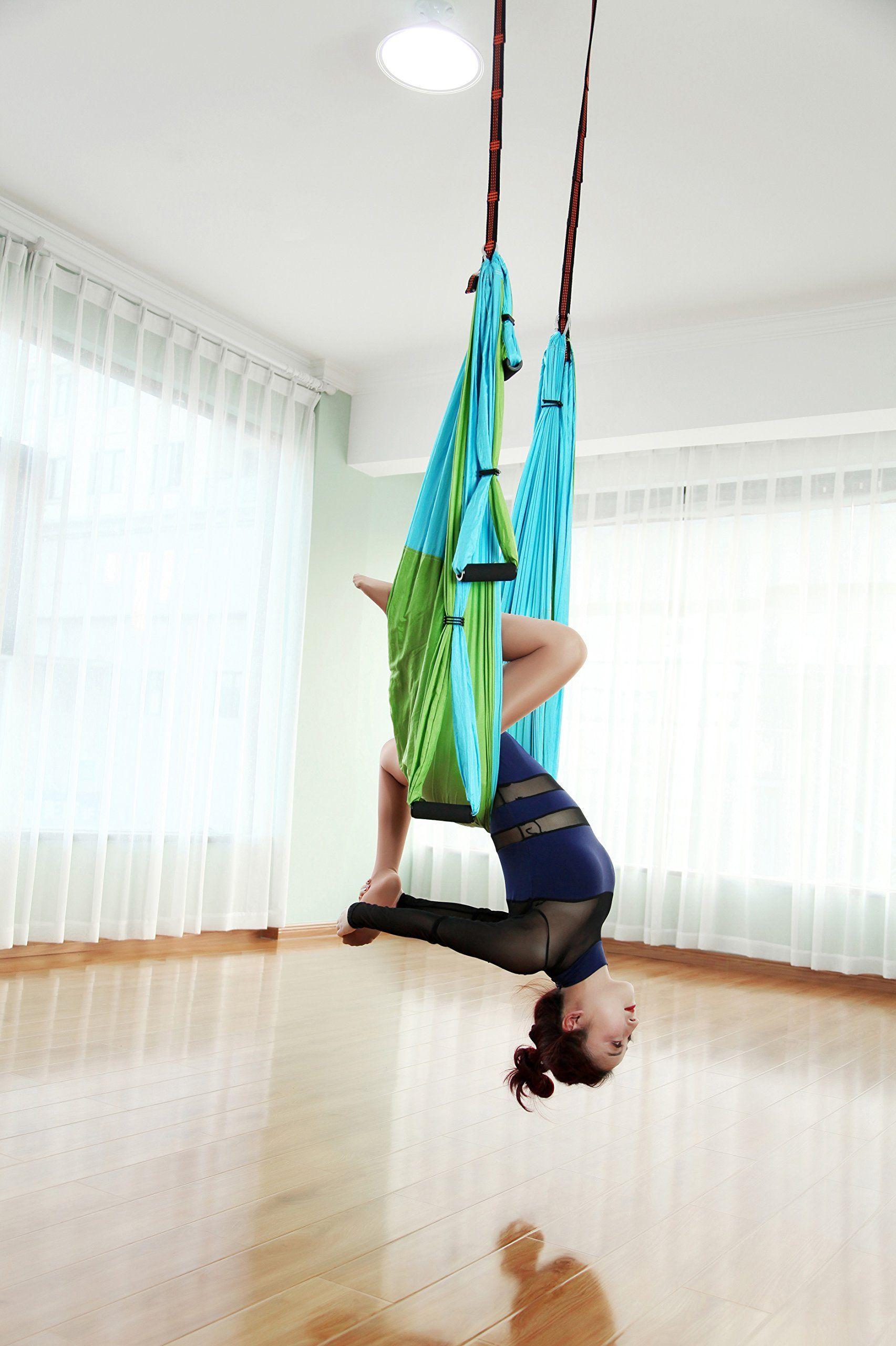 Gpeng aerial flying yoga hammock set yoga swing inversion sling