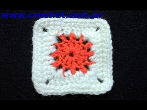 Motivo N° 11 en tejido crochet tutorial paso a paso. - YouTube