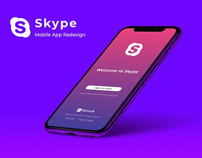 "Check out new work on my Behance portfolio ""Skype Mobile"