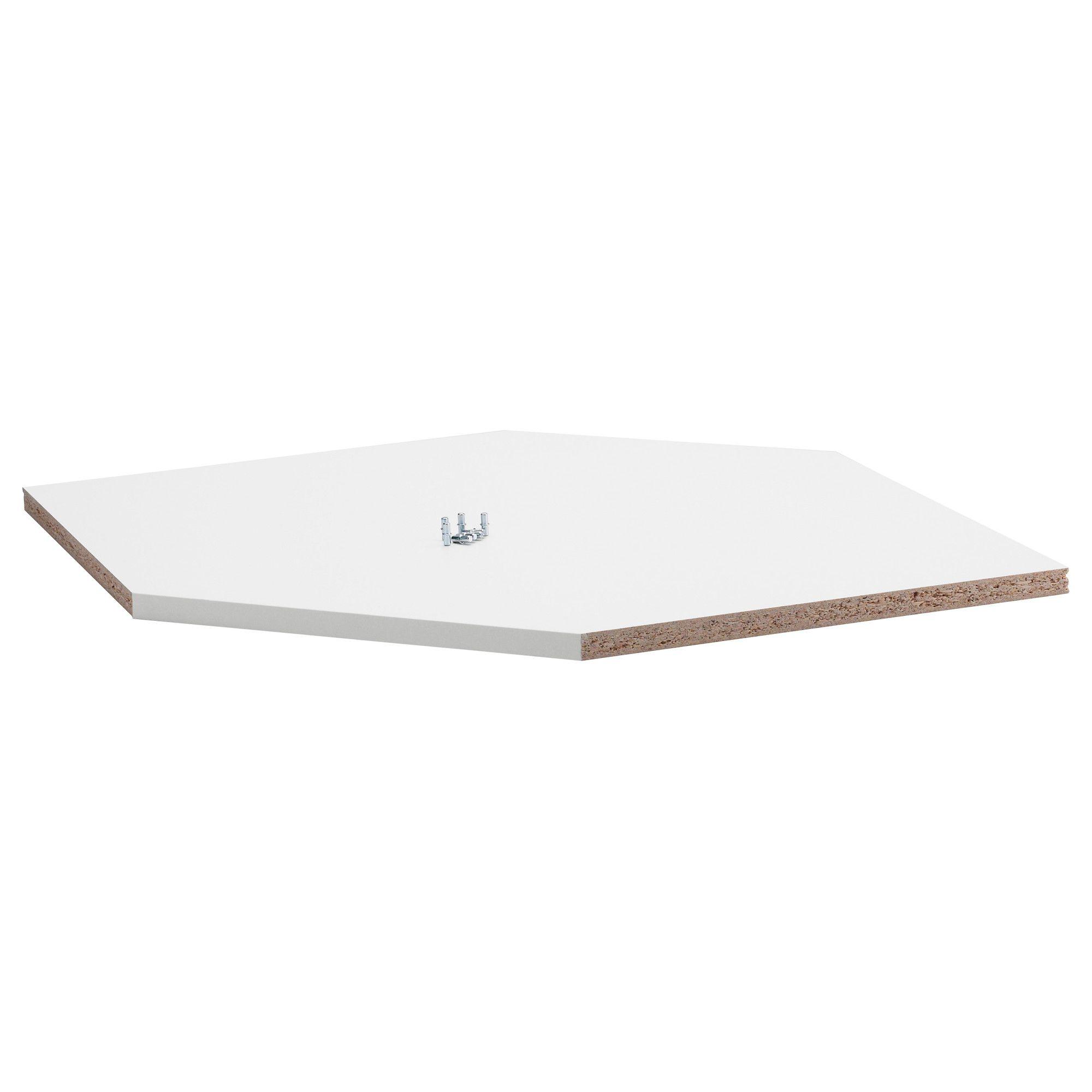 RATIONELL Shelf For Corner Wall Cabinet, Melamine White $8.00 Width: 23 1/2