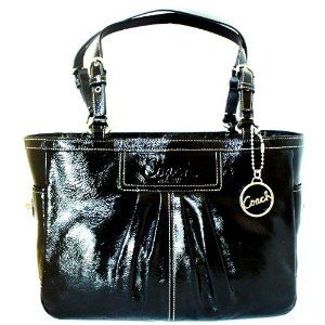 Coach / Coach Patent Leather East West Gallery Book Tote 13761 Black (Apparel)